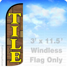 Flag Only 3' Windless Swooper Feather Banner Sign - Tile brown q