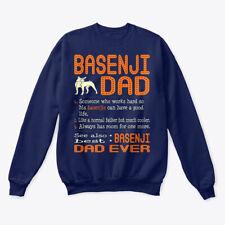 Basenji Dad Like Normal Father Hanes Unisex Crewneck Sweatshirt