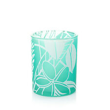 YANKEE CANDLE TAHITIAN MIST TROPICAL 2 VOTIVE HOLDER SET WITH BLUE SKY CANDLES