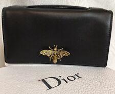 Christian Dior Purse Black Small Wasp Clasp New No Accessories