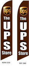 TWO The UPS Store 15 foot Swooper Feather Flag Sign