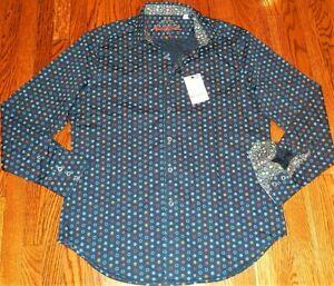 ROBERT GRAHAM AUTHENTIC MENS BRAND NEW CLASSIC FIT DRESS SHIRT Sz L (LARGE), NWT