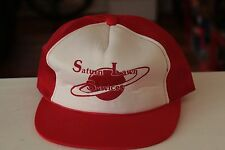 Rare Vtg Saturn Lawn Services Mesh Trucker Snapback Hat Cap