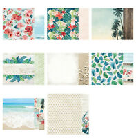 "Kaisercraft Paradise Found 12x12"" - Double Sided Craft Scrapbooking Paper Tropic"