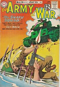 OUR ARMY AT WAR #117  SGT. ROCK & EASY CO.  JOE KUBERT  DC  SILVER-AGE 1962