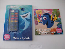 NEW Lot of 2:Disney Pixar Finding Dory Making A Splash Paint Book AND Story Book