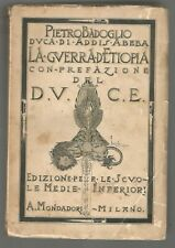 LA GUERRA D'ETIOPIA di Pietro Badoglio - Mondadori II edizione 1937 prefaz. duce