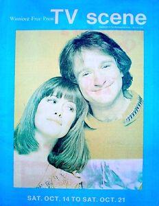 TV Guide 1978 International Mork & Mindy Robin Williams Pam Dawber TV Scene VTG