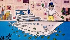 Alec Monopoly Oil Painting on Canvas  art Decor,Wolf Of Wall Street 48×72inch