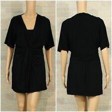 b08521e6f97 White House Black Market Miss SMALL Black Mini Tunic Dress Pleated Empire  Waist