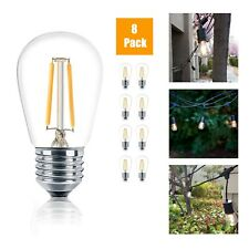 Outdoor Weatherproof 1W S14 LED Filament Replacement String Light Bulbs E26 Base