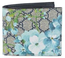 New Gucci Men's 546351 GG Supreme Coated Canvas BLOOMS Bifold Wallet