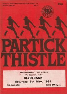 Partick Thistle v Clydebank - 5th May 1984