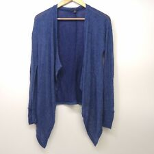 New American Eagle AEO Womens Mixed Knit Navy Blue Wrap Cardigan Sweater Sz S