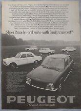 1971 Peugeot range Original advert No.1