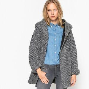 Freeman T. Porter Women's Daniela Mix Coat Grey Size Large 12/14