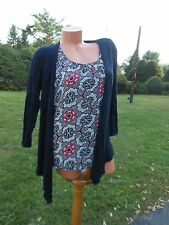 Womens SMALL Black Sweater with Attached Cami Sag Harbor