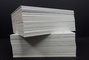 """100 ICE WHITE 8X6"""" FOR 6X4"""" PICTURE MOUNTS"""