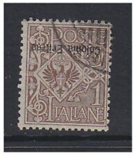 Eritrea - 1903, 1c Brown (Overprint Inverted) stamp - F/U - SG 19a