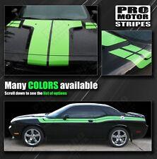 ( BURGUNDY ) Dodge Challenger 2011 2012 2013 2014 - Hood, Fender & Side Stripes