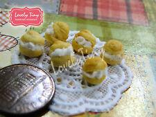 Dollhouse miniature 6 PCs.of Miniature Choux Cream size 0.7 cm. diameter