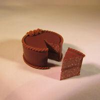Chocolate Cake ~ Doll House Miniature Food ~ 1/12 scale
