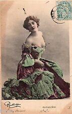 BD593 Carte Photo vintage card RPPC Femme woman Fashion Cavalieri Reutlinger