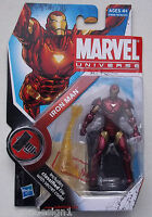 MARVEL UNIVERSE MINIS IRON MAN ACTION FIGURE. NO. 007. NEW ON CARD. H.A.M.M.E.R.