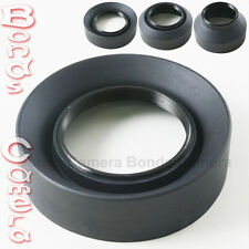 52mm 52 mm 3-Stage Rubber Foldable Lens Hood for Canon Nikon Sigma Sony camera