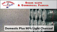 Deluxe 90% UV Shade Cloth Universal Shadecloth 1.83m x 5m LIGHT CHARCOAL GREY