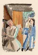 Adolphe resorte-el invitado-colorierte litografía en perrigotbütten