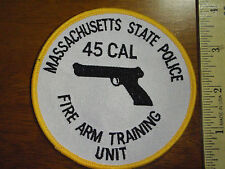 MASSACHUSETTS STATE POLICE FIRE ARM TRAINING UNIT 45 CAL PATCH MSP