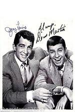 Jerry Lewis-Dean Martin + + autógrafo + + Hollywood-leyenda + +