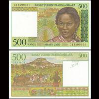 Madagascar 500 Francs Banknote, 1994, P-75, UNC, Africa Paper Money