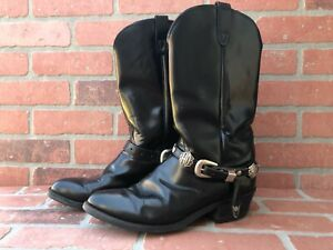 Harley-Davidson Men's Size 9 Black Leather Slip-On Boots Great Condition!