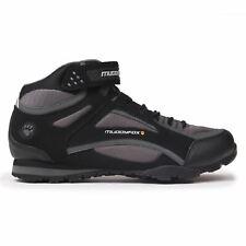 Muddyfox TOUR 100 Mid Cycling Shoes Mens Black/Charcoal Trainers Footwear