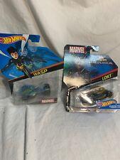 Hot Wheels Hotwheels Marvel Loki Diecast Car And Wasp Lot Two