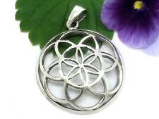 Blume des Lebens 925 Sterling Silber Anhänger Amulett Esoterik Lebensblume