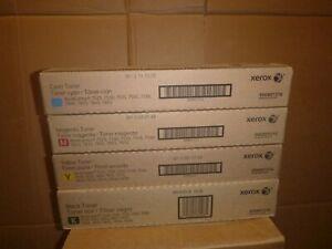 4 BRAND NEW Genuine OEM XEROX Toner SET 006R01513 006R01514 006R01515 006R01516