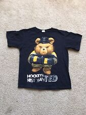 Vintage TED Teddy Bear Hockey Angry Shirt Black White Yellow Talking Bear Movie