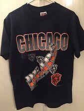 Rare Vtg Chicago Bears Trench T Shirt 90s Vintage