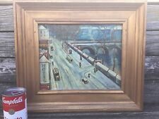Oil on board attributed to CAMILLE BOMBOIS French Naive Primitive artist.