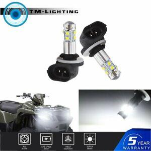 Pair White 6000K LED Fog Light Bulbs Kit Bright 881 886 889 894 898 100W 8000LM