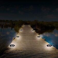 Solar 4LED Decking Floor Light Outdoor Pathway Garden Fence Spot Lamps