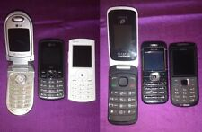 NICE $100 Lot of 6 Cell Phones LG Nokia Pantech Alcatel TracFone Flip Prepaid !!