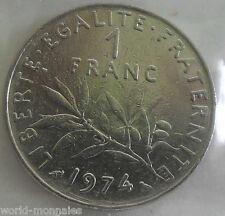 1 franc semeuse 1974 : TB : pièce de monnaie française