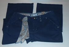 Limited Too Girls Slim Twill Pants Navy Blue 12S Nwt