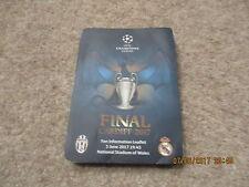 UEFA Champions League Final Cardiff June 2017 Fan Information Leaflet.