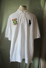Mens Ralph Lauren White BigPony SS Rugby Shirt Marine Supply Patch NWT $125 2XLT