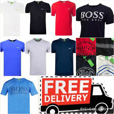 HUGO BOSS men's  t-shirt crew neck short sleeve pure cotton, Various sizes